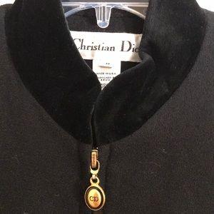 Christian Dior wool jacket w/mandarin collar
